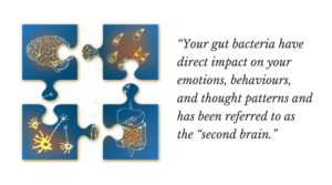 "-""Your gut bacterias have direct impact on your emotions, behaviours, and thought patterns and has been referred to as the ""second brain."" pic 2 - gut-brain"